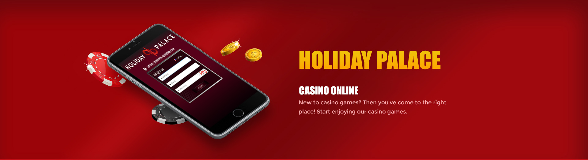 holiday palace casino banner